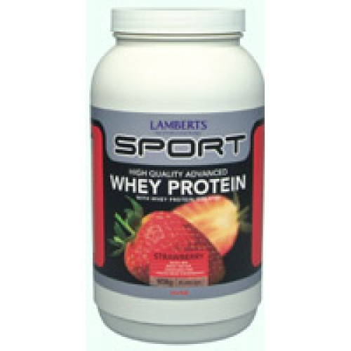 Lamberts - Whey Protein Concentrate Strawberry 1000gr Συμπληρώματα Διατροφής