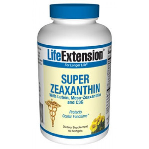 Life Extension - Super Zeaxanthin With Lutein And Meso - Zeaxanthin, 60 softgels Συμπληρώματα Διατροφής