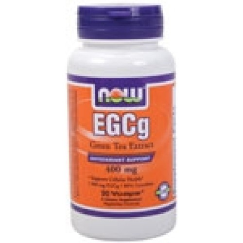 NOW Foods - EGCg Green Tea Extract 400mg (98% Polyphenols), 90 vegetable capsules Συμπληρώματα Διατροφής